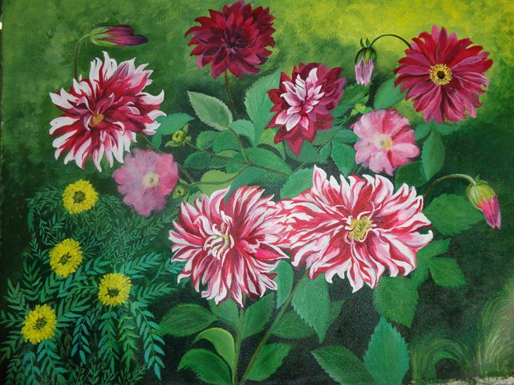 Beauties n Garden- Original For sale - neeruart