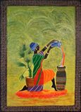 Original ceramic painting , Handmade