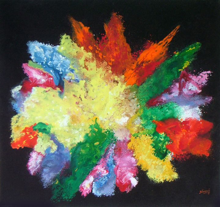 Cosmic Inspiration- Original Acrylic - neeruart