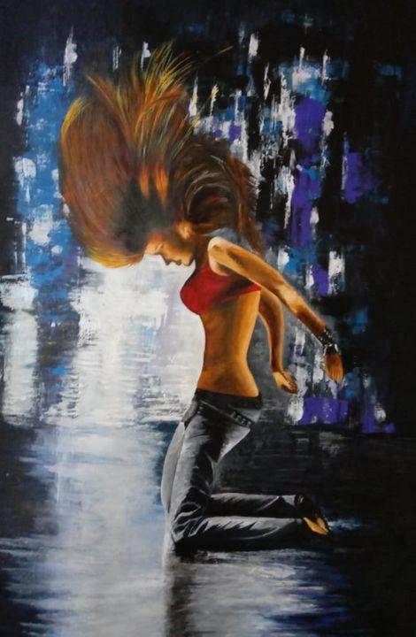 Passion- Original Acrylic Painting - neeruart
