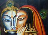 Original Painting Krishna and Radha