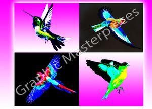 Birds in flight Pop Art