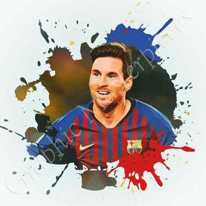 Custom digital artwork Leonel Messi