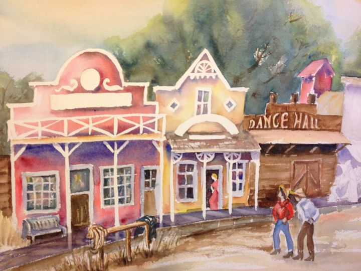 Ghost Town - Ruth Stephen's Watercolor