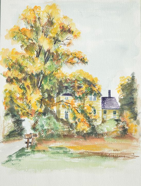 Homestead, Bellevue House 116NE, WA - Ruth Stephen's Watercolor