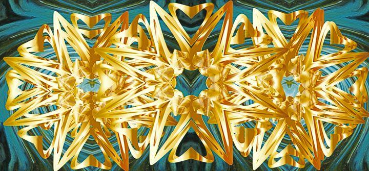 Gold Flowers - Karen Colville Nature Art