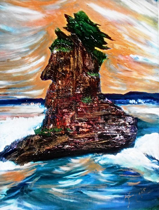 Siwash Sea Stack - Karen Colville Nature Art