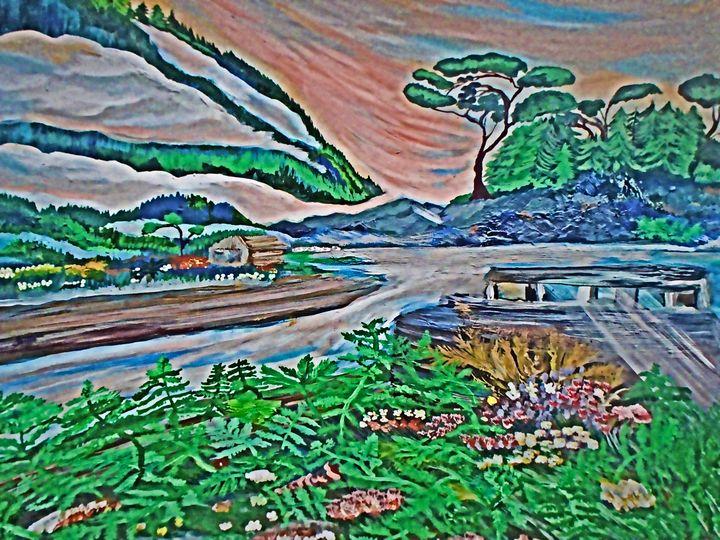 Old Boat Van Island - Karen Colville Nature Art