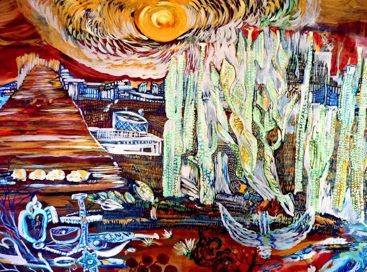 Sedona Mesas Cacti - Karen Colville Nature Art