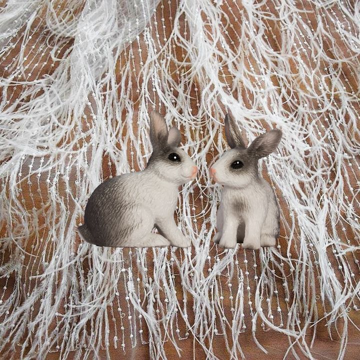 Snow Bunnies - Karen Colville Nature Art