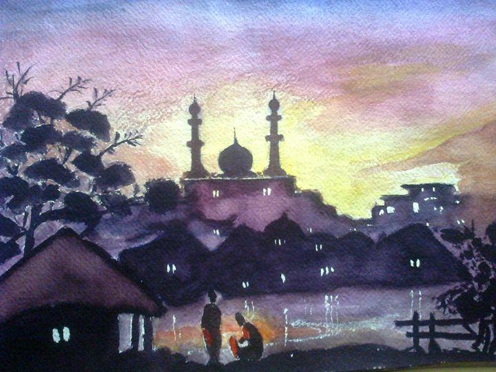 Veiw of Mosque - FRANCO ARTS