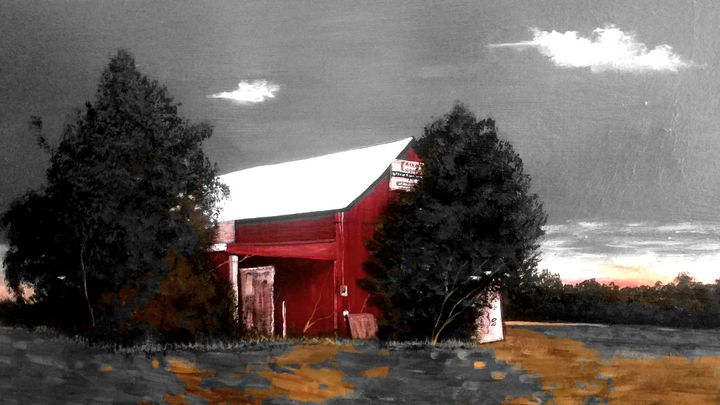Red old barn - RodriguezArt