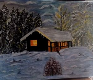 Hut from  a winter season