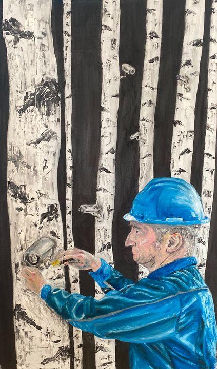 Man installing CCTV cameras - Mateusz Kowalczyk
