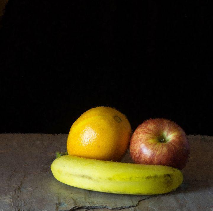 Banana/Orange/Apple, Gray Slate (OP) - StephenJSepan