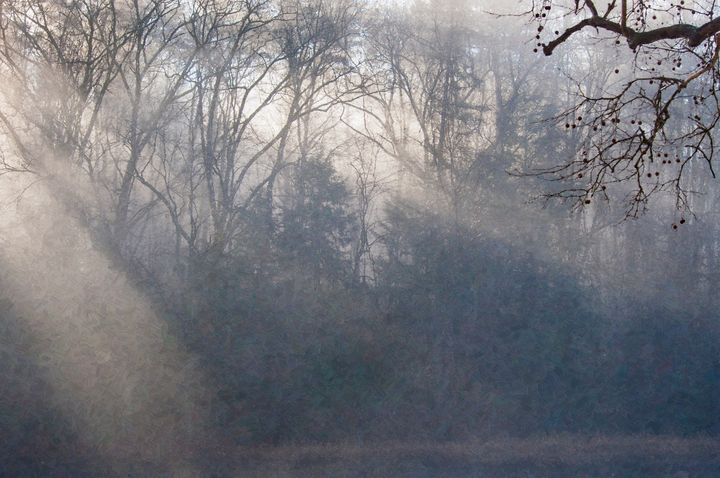 Misty view across Clarion River (OP) - StephenJSepan