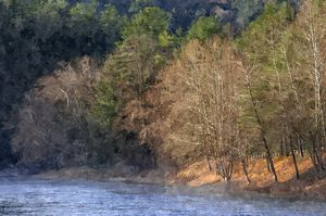 Clarion River, Fog / Sunlight (WC)