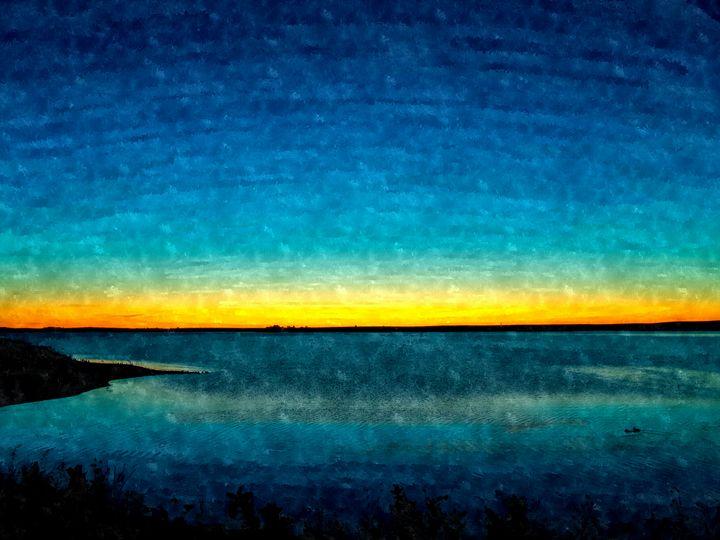 Twilight on Aurora Reservoir (WC) - StephenJSepan