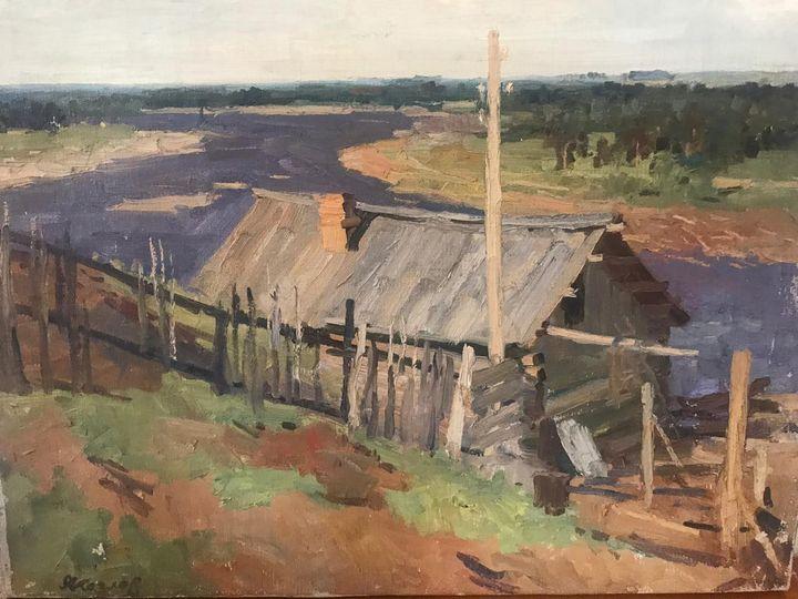 On the Vyatka River Vintage Painting - GoldFishArtRU