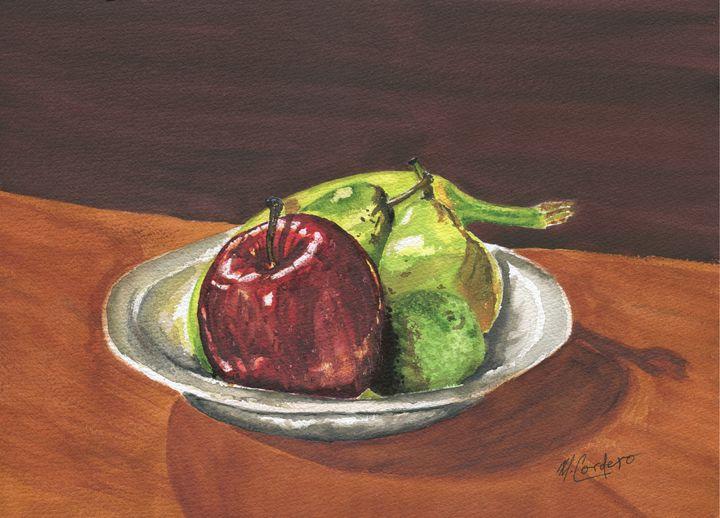 Big Red - M. Cordero Watercolor Studio
