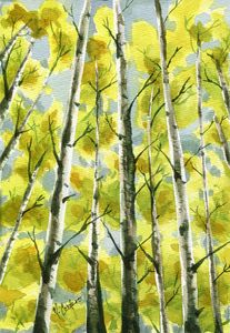 Birch Trees - M. Cordero Watercolor Studio