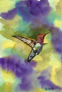 Zoom Zoom Hummingbird - M. Cordero Watercolor Studio