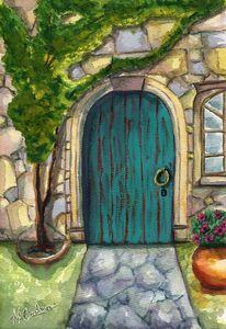Villa Doorway - M. Cordero Watercolor Studio