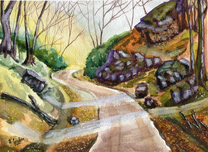 Country Back Road - M. Cordero Watercolor Studio