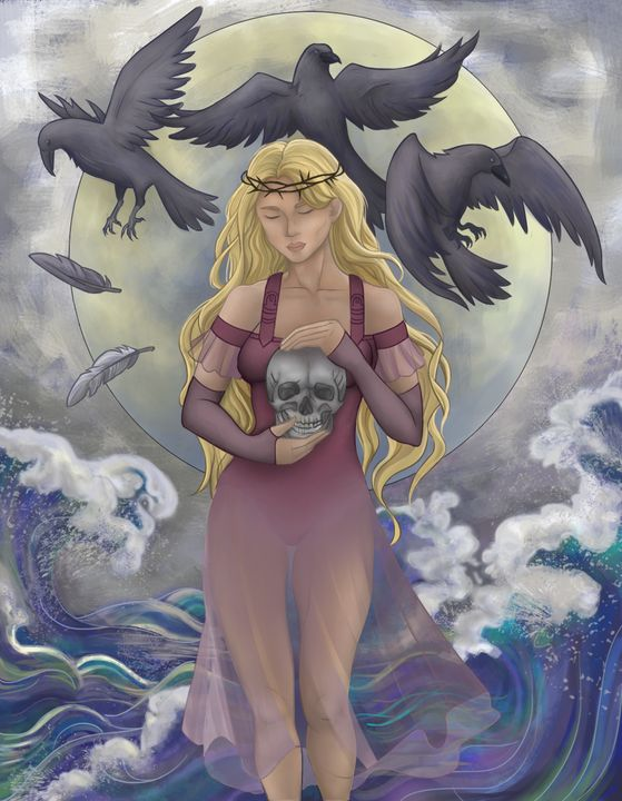 Girl with crows - ArtRuDi