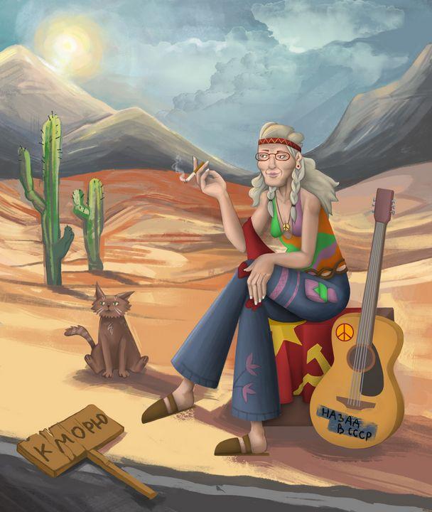 Hippie Granny - ArtRuDi