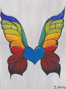 Abstract Rainbow Butterfly
