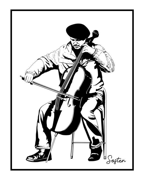 Violoncelliste - cadrOmur
