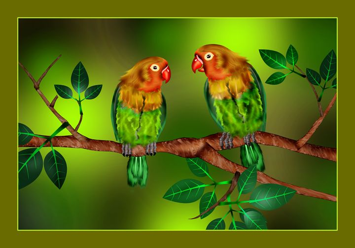 Two Parrots - Rinto Francis