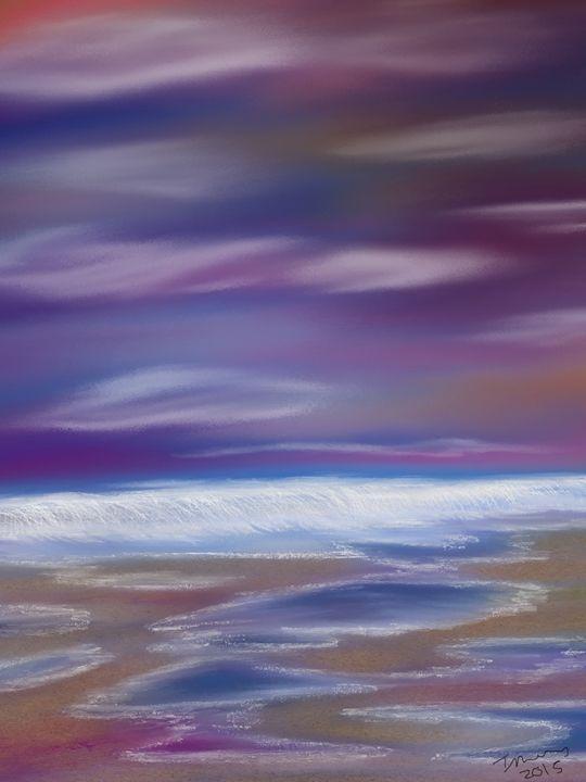 Violet Rays of Ocean Waves - Ancientz Artz