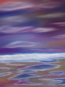 Violet Rays of Ocean Waves