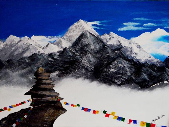 The Himalayas of Nepal - Dancing shadows