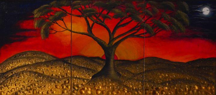 Sunset - Dancing shadows