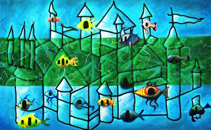 Fish School - The art of paul smutylo