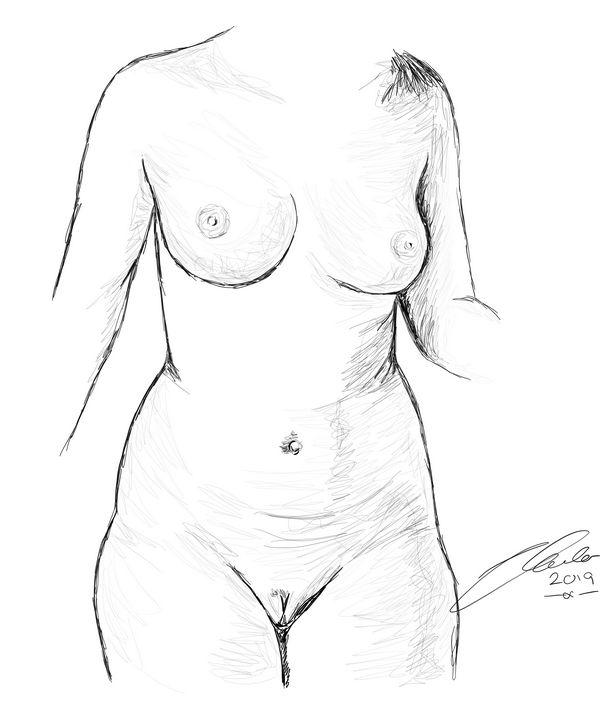 Surrender Female Nude Representation - L E Lench