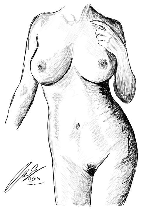 Seduction Female Nude Representation - L E Lench