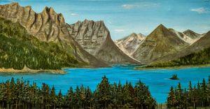 St Mary Lake Glacier Ntl Park Montan