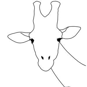 Line art giraffe