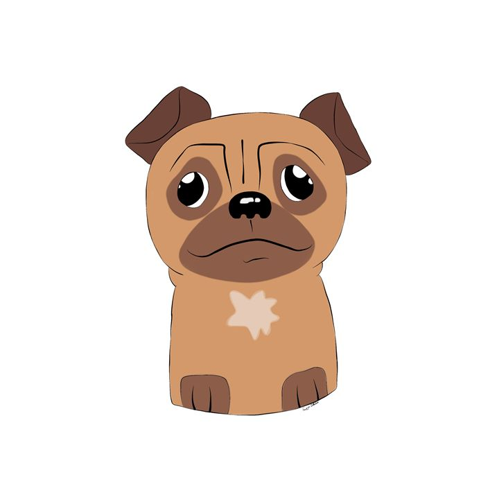 Cute Pug - Animals by Freyja