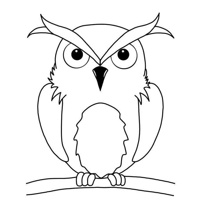 Line art Owl - Animals by Freyja