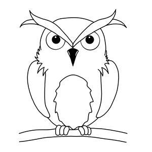 Line art Owl