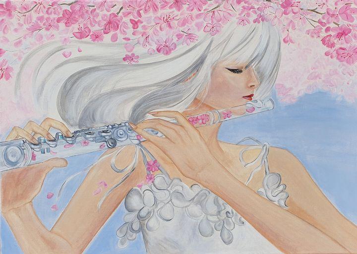Girl with a glass flute - Zaras Art