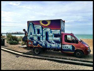 Spray painted Van