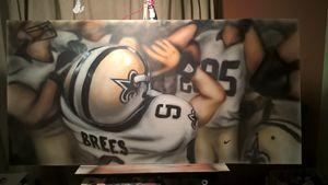 New Orleans Saints Huddle - paint the town nola
