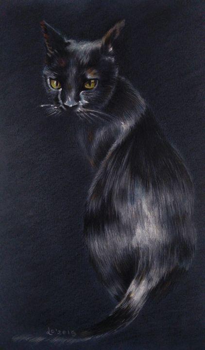 The Black cat - Svetla Ivanova Art