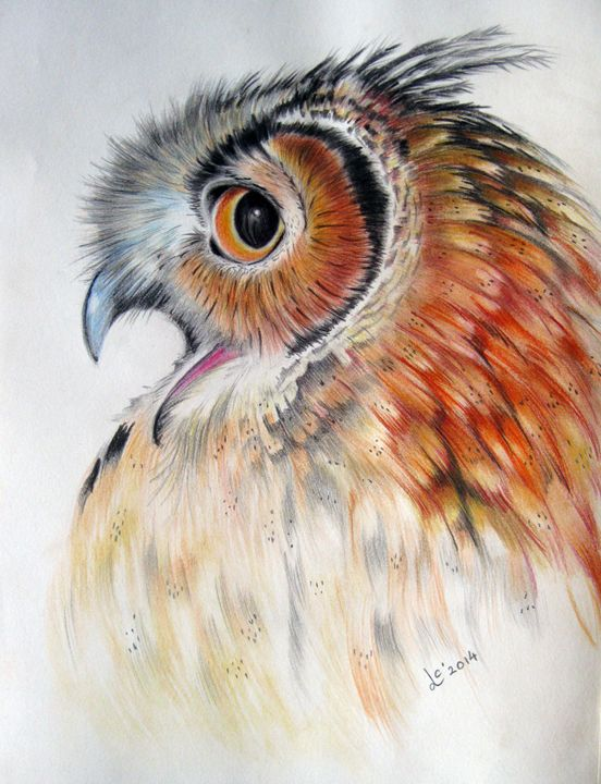 Owl ( the original is sold ) - Svetla Ivanova Art